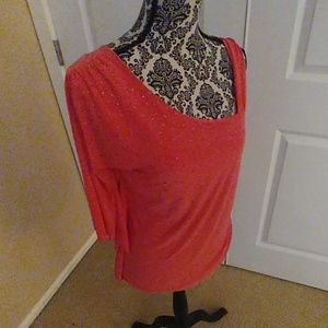 VINCE CAMUTO (M) St. Tropez top in Salmon clr. NEW